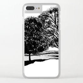 Treescape Drawing Clear iPhone Case