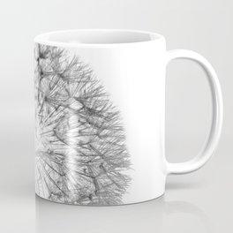 Black Dandelion On White Background Coffee Mug