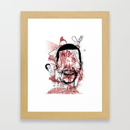 Chaotic mind Framed Art Print