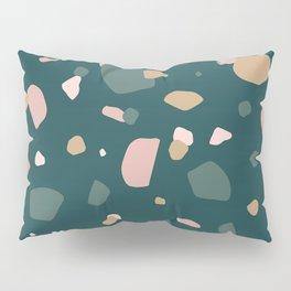 Dark Green Terrazzo Pillow Sham