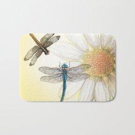 Dragonfly Daisy Bath Mat