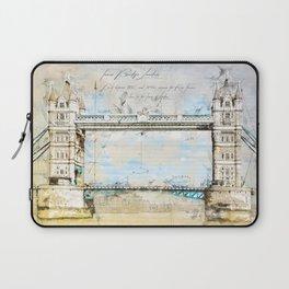 Tower Bridge, London England Laptop Sleeve