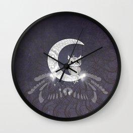 Cute owl, mandala design Wall Clock