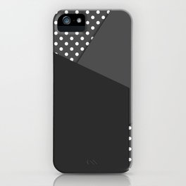 Grey abstract abstract iPhone Case