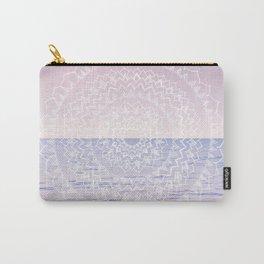Blissful Ocean Dream Mandala #1 #pastel #wall #decor #art #society6 Carry-All Pouch