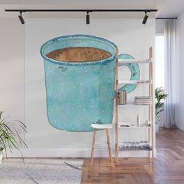 Blue Enamel Coffee Mug Wall Mural