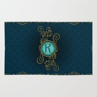 letter Area & Throw Rugs featuring Letter K by Britta Glodde
