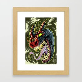 MONSTER demon Framed Art Print