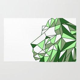 Polygon Lion Rug
