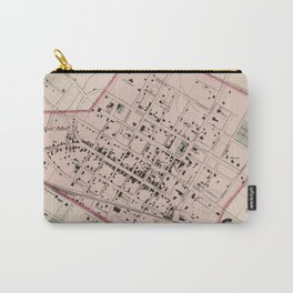 Vintage Map of Charlottesville VA (1877) Carry-All Pouch