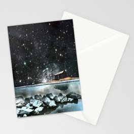 house by the sea Stationery Cards