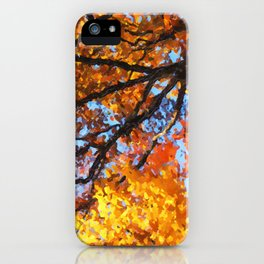 Autumnal colors in forest iPhone Case