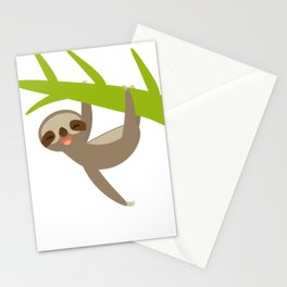 funny sloth Stationery Cards