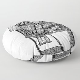 The gateway House Floor Pillow