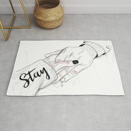 Stay - don't leave Rug