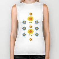 ukraine Biker Tanks featuring Sunflowers of Ukraine by rusanovska