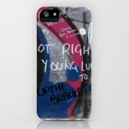 Hare Row - Up The Bracket iPhone Case