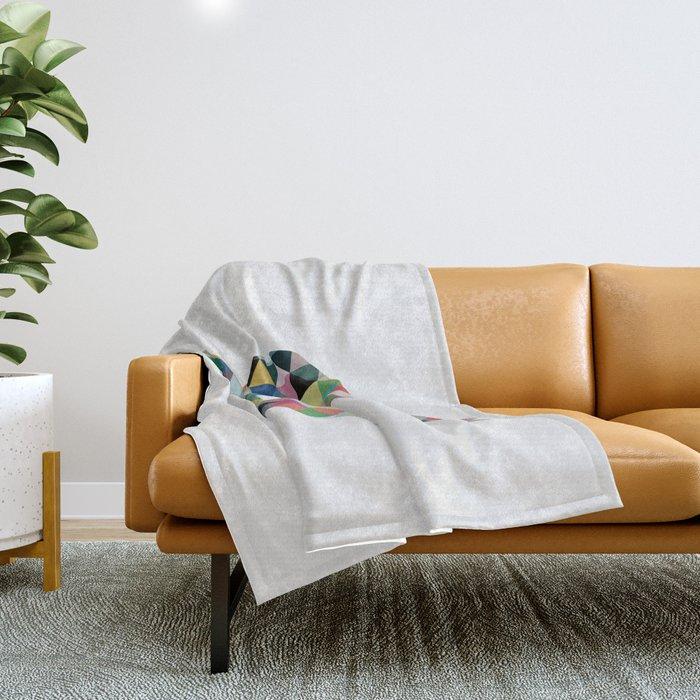 Colorful Geometric Turtle Throw Blanket