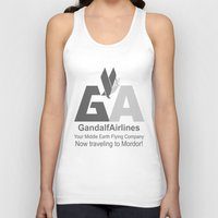 gandalf Tank Tops featuring Gandalf Airlines by Faniseto