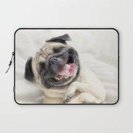 Smiling pug.Funny pug Laptop Sleeve