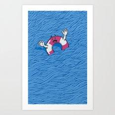 S.O.S. (version 2.0) Art Print