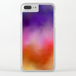 Abstract sunrise Clear iPhone Case