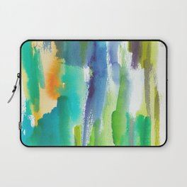 180812 Abstract Watercolour Expressionism 4 | Colorful Abstract | Modern Watercolor Art Laptop Sleeve