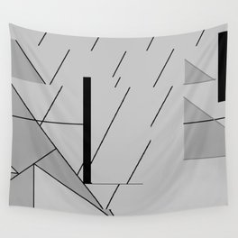 Grey Triangles Pattern Wall Tapestry