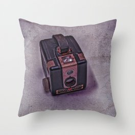 Old Brownie Camera Throw Pillow