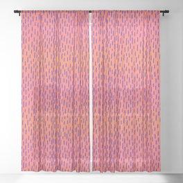 Sunset Dash Sheer Curtain