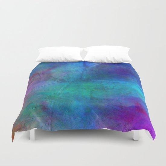 Texture abstract deep blue Duvet Cover