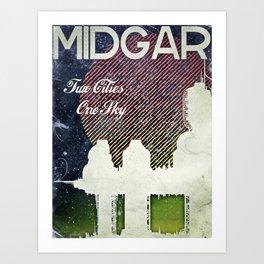 Final Fantasy VII - Midgar Tribute Poster *Distressed* Art Print
