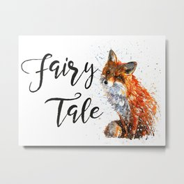 Fox Fairy Tale Metal Print