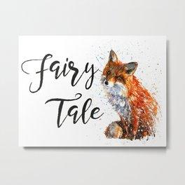 Fox Fairy Tale Metal Print