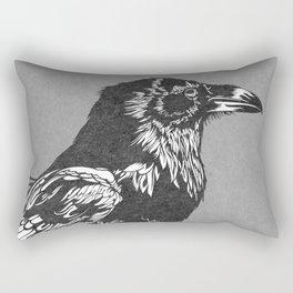 Raven Grey Rectangular Pillow