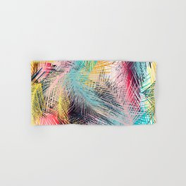 Jungle pampa colorful forest. Tropical fresh forest pattern with palms Hand & Bath Towel
