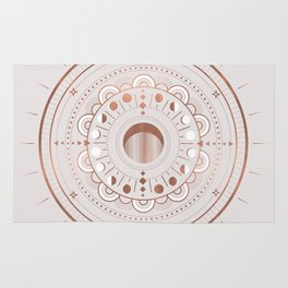 Rosè Moon Mandala Rug