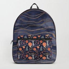 Precious indigo waters - cats climbing theme Backpack