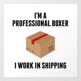 Professional Boxer Art Print