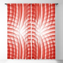 Red Abstract 227 Blackout Curtain