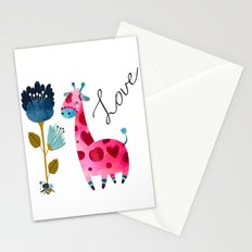 Love Girffe Stationery Cards