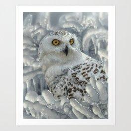 Snowy Owl Sanctuary Art Print