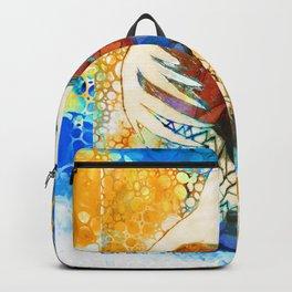Comfort - Colorful Bird Heart Art By Sharon Cummings Backpack