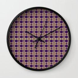 PUPRLE RETRO PATTERN  Wall Clock