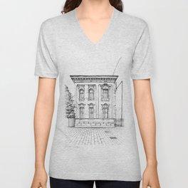 Historical house  Unisex V-Neck