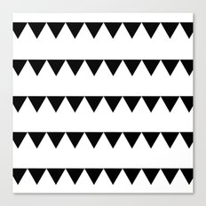 TRIANGLE BANNERS (Black) Canvas Print