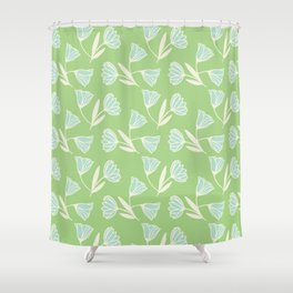 Flowers and wind Shower Curtain