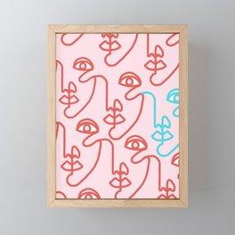 Multi Faced Pinky Framed Mini Art Print