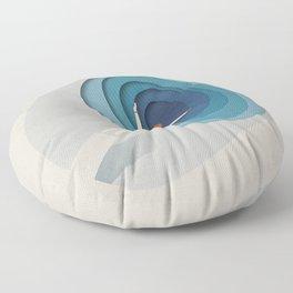 Dive Into Blue Floor Pillow