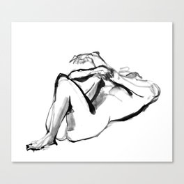 Nude Study 1 Canvas Print